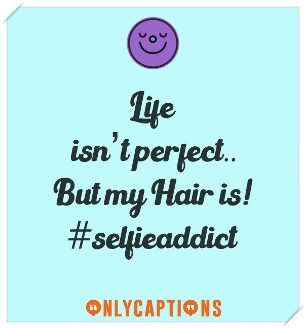 Best selfie captions for Instagram on hairs (for boys girls)